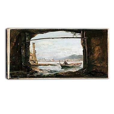 Design Art – JC Dahl, View from a Grotto Near Posillipo, impression sur toile