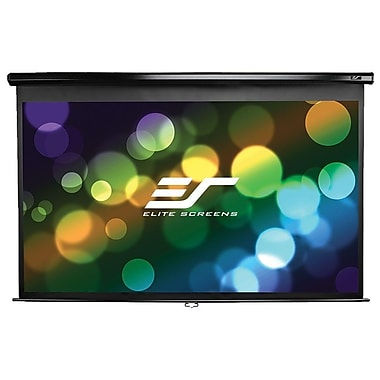 Elite Screens Manual Series Manual Wall / Ceiling Mount Projection Screen, 1:1, Black Casing (M119UWS1)