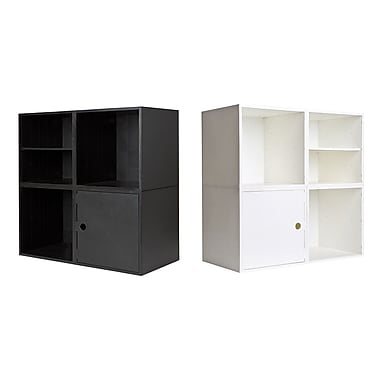 iCube 4-Cube Modular Smart Storage System, White or Black