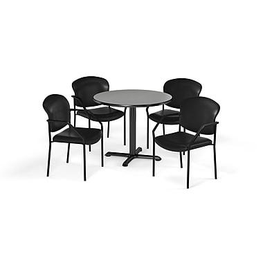 OFM ? Table ronde et polyvalente de 36 po en stratifié de la série X avec 4 chaises