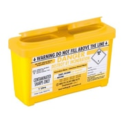 Daniels Astroplast Sharps Container, Yellow, 3/Pack