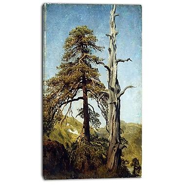Designart – August Cappelen, étude d'arbres, imprimé sur toile