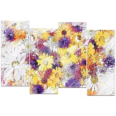 Design Art – Imprimé sur toile, lit de fleurs pastel