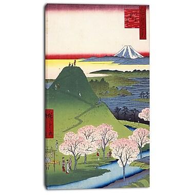 Design Art – Utagawa Hiroshige, Horikiri Iris Garden Asia, toile