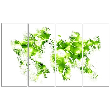 Design Art – Carte avec bulle verte, impression sur toile