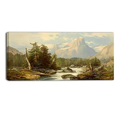Designart – Vallée et montagnes, imprimé sur toile