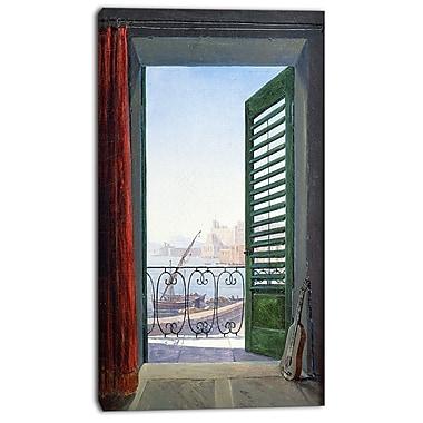 Design Art Carl Schuch, Balkon in Neapel Canvas Art Print