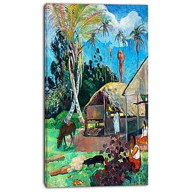 Design Art – Toile imprimée de Paul Gauguin, les pourceaux noirs