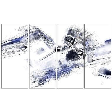 Design Art Skiing Down Hill Canvas Art Print