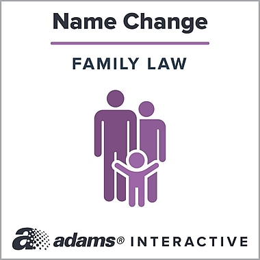 Adams Name Change, 1-User, Instant Web Downloaded Form