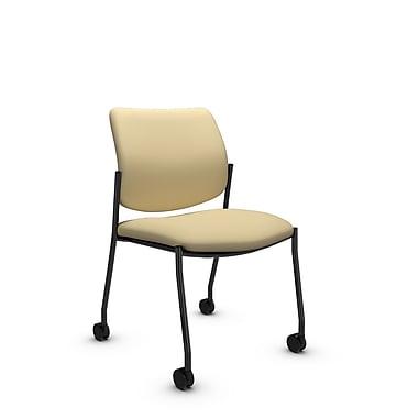 GlobalMD – Chaise d'invité et de réception Sidero à roulettes sans accoudoirs (6901C IM70), tissu Imprint