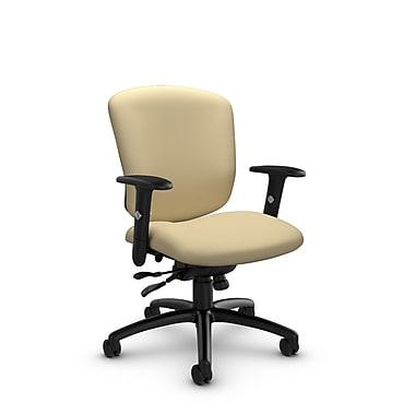 Global® (5336-1 IM70) Supra-X Synchro Tilter Chairs, Imprint Almond Fabric, Tan