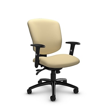 Global® (5336-3 IM70) Supra-X Multi Tilter Chairs, Imprint Almond Fabric, Tan