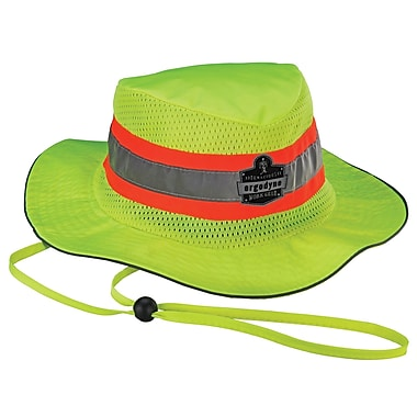 Ergodyne Chill-Its 8935MF Evaporative Hi-Vis Ranger Hat with microfiber, Lime, Assorted Sizes