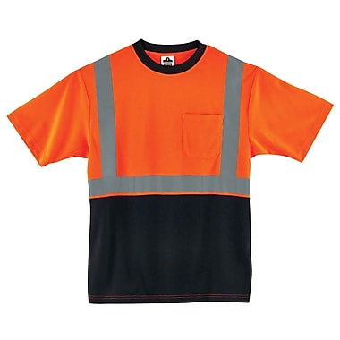 Ergodyne GloWear 8289BK Class 2 T-Shirt, Orange, Assorted Sizes