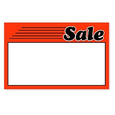 Pancarte de vente, 7 haut. x 11 larg. (po), 100/paquet