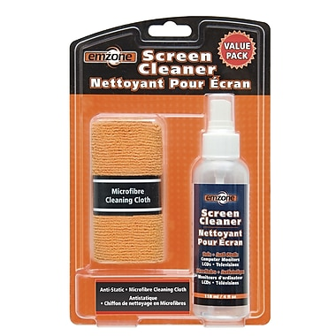Emzone Screen Cleaner & Microfibre Cloth Value/Pack