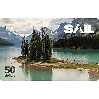 Carte-cadeau SAIL de 50 $