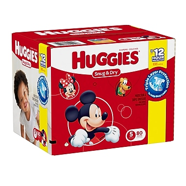 Huggies – Couches Snug and Dry, Giga Jr. tailles 1 à 6