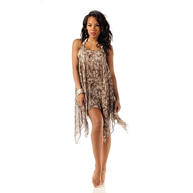 Toujours Elegant Asymmetrical Top/Cover Up, Sand