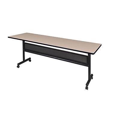 Regency ? Table rabattable en métal et en bois Kobe avec panneau de fond, 84 x 24 po