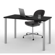 Bestar – Table avec pieds carrés en métal 24 x 48 po