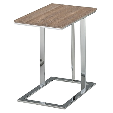 WHI – Tables d'appoint en faux nickel brossé, (501-900GCL)