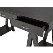 Brassex – Bureau avec 2 tiroirs de rangement et plateau pour clavier 140412-13-CH