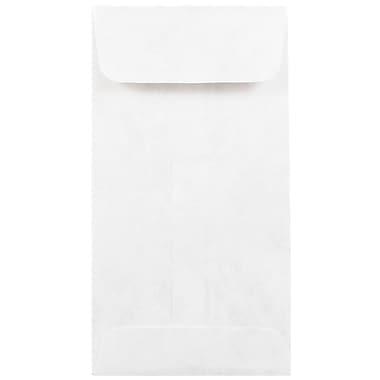 JAM Paper® Tyvek Envelopes, #7 Coin, 3 1/2 x 6 1/2, White