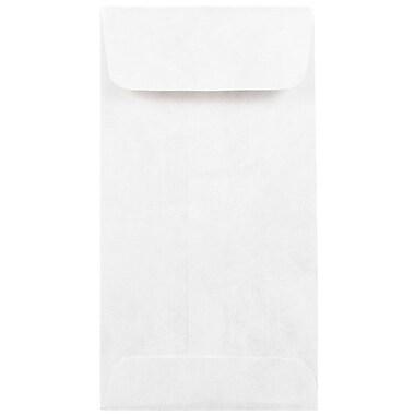 JAM PaperMD – Enveloppes à monnaie no 7 en Tyvek, 3 1/2 x 6 1/2 po, blanc