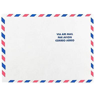 JAM PaperMD – Enveloppes pour correspondance aérienne en Tyvek à ouverture au sommet, 9 x 12 po, blanc