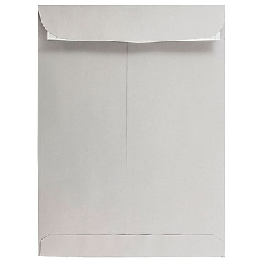 JAM PaperMD – Enveloppes à ouverture au sommet avec fermeture autocollante, 9 x 12 po, gris clair