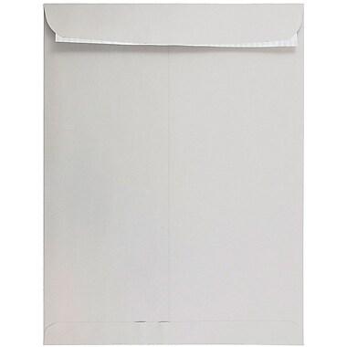 JAM PaperMD – Enveloppes à ouverture au sommet avec fermeture autocollante, 12 x 15 1/2 po, gris clair