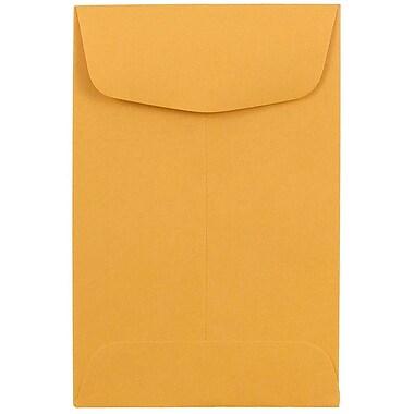 JAM PaperMD – Enveloppes à monnaie no 4, 3 x 4 1/2 po, brun kraft/manille