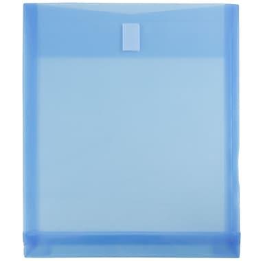 JAM PaperMD – Enveloppes à 3 trous en plastique avec fermeture à bouton et ficelle, extensible de 1 po, 12/paquet