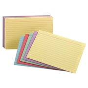 Staples Assorted Pastel Index Cards, 300/Pack