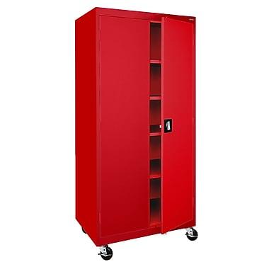 Transport 4-Shelf Mobile Storage, 36Wx24Dx72H
