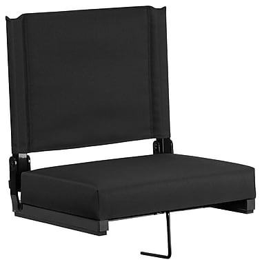 Flash Furniture Game Day Seats by Flash with Ultra-Padded Seat in (XU-STA-BK-GG)
