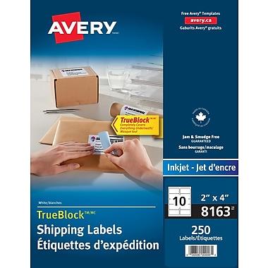 Avery® TrueBlock™ White Inkjet Shipping Labels