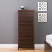 Prepac Yaletown 5-Drawer Tall Chests