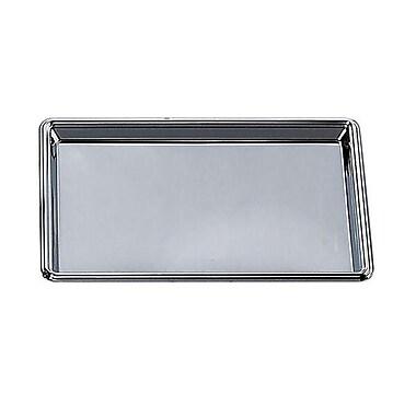 Elegance – Plateau rectangulaire en acier inoxydable nickelé, 12 x 8 x 1 (po)