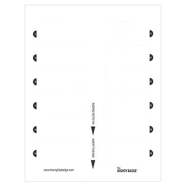 The Mighty Badge – Insert SheetsMC, laser/jet d'encre, blanc