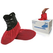 BlueMed Ruby Shoe Covers, Resistant, Red, Universal Fit, 300/Pack (SHS-1516-CB)