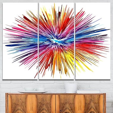 Colour Explosion Abstract Metal Wall Art