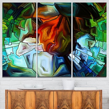 Abstract Stained Glass Design Abstract Metal Wall Art