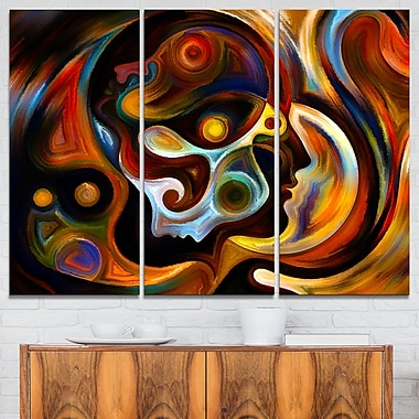 Perspectives of Inner Paint Abstract Metal Wall Art