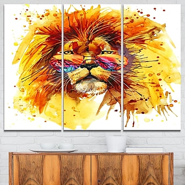 Art mural en métal à thème animal, le Roi vous observe
