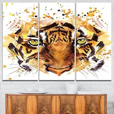 Art mural en métal à thème animal, yeux de feu