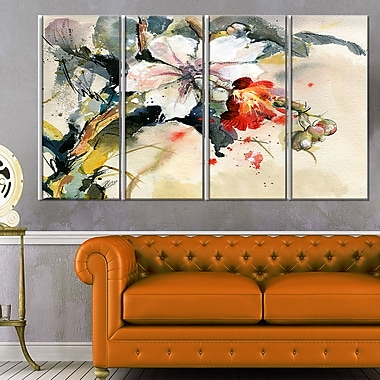 Orchid in Bloom Floral Metal Wall Art