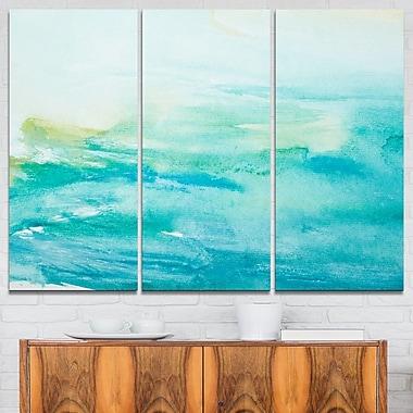 Art mural en métal, voir la mer de près, abstrait